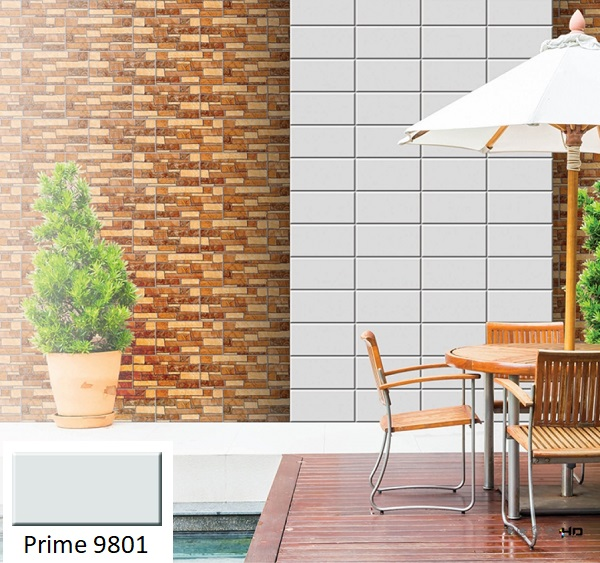 Không gian sống hiện đại hơn với mẫu gạch thẻ ốp tường trang trí Prime 9801 màu trắng đơn giản