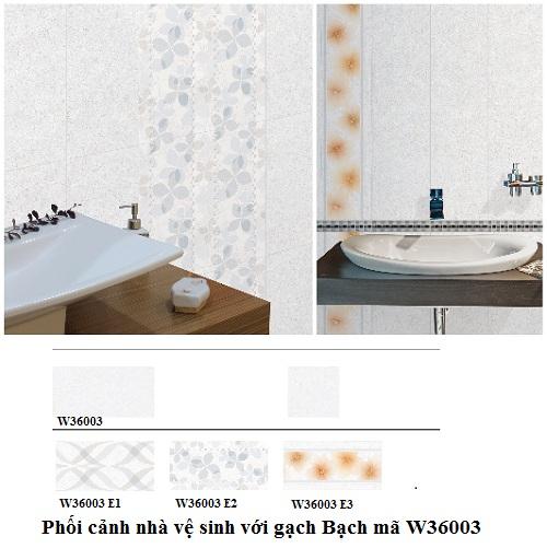 Gạch ốp nhà vệ sinh Bạch mã W36003