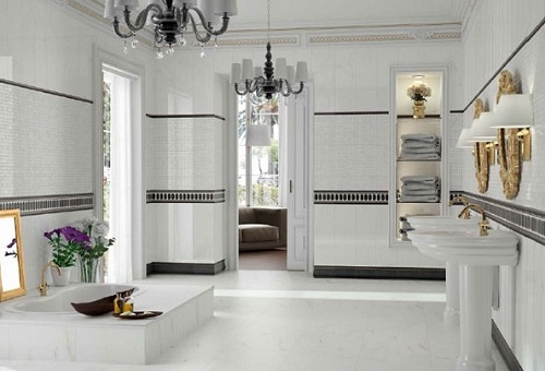 Gạch ốp nhà vệ sinh Bạch mã đem lại không gian sáng