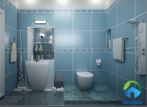 gạch ốp tường nhà tắm bạch mã