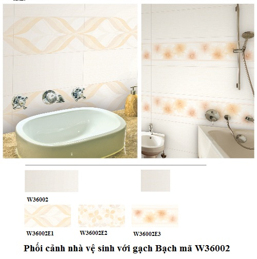 Gạch ốp tường nhà vệ sinh Bạch mã W36002