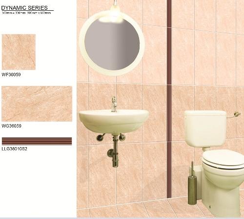 Phối cảnh gạch ốp nhà vệ sinh Bạch mã cao cấp