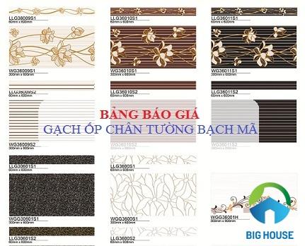 Báo giá gạch ốp chân tường Bạch mã ấn tượng Rẻ nhất tại Việt Nam