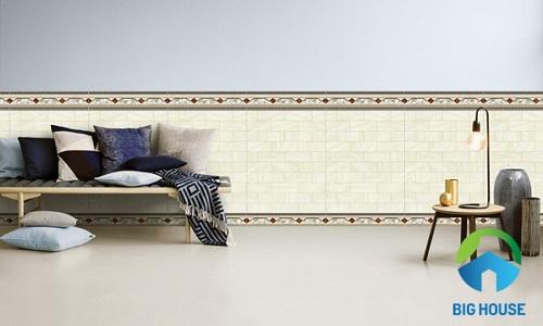 mẫu gạch ốp chân tường phòng khách đem lại sự khác biệt