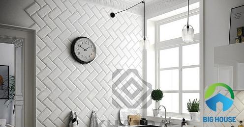 gạch thẻ ốp tường màu trắng 4