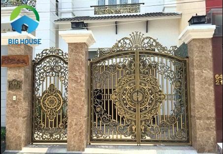 mẫu gạch ốp cổng đẹp