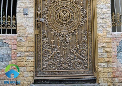 gạch ốp cổng nhà đẹp ấn tượng