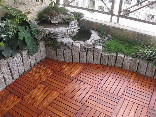 Gạch lát giả gỗ cho khu vực ban công độc đáo