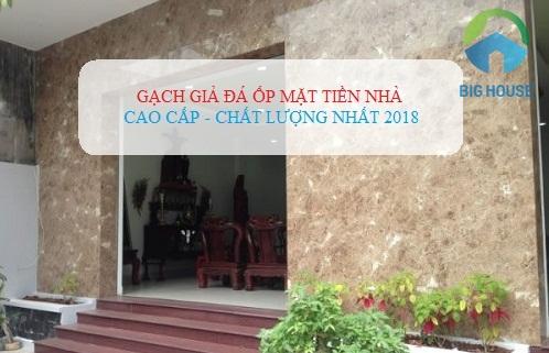 Chọn mẫu gạch giả đá ốp mặt tiền nhà Đẹp – Sang – HOT nhất 2018