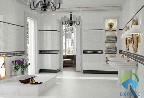 gạch nhà vệ sinh màu trắng