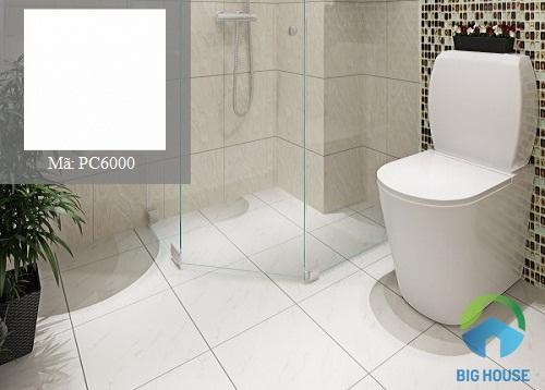gạch ốp tường nhà vệ sinh màu trắng