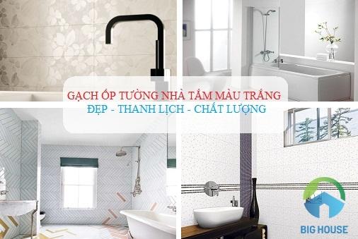 Top 6 mẫu Gạch ốp nhà tắm màu trắng Đẹp – Thanh lịch – Chất lượng