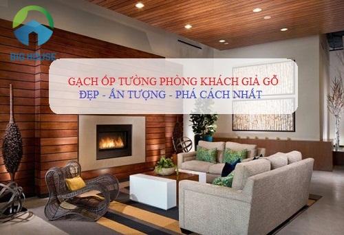 Gợi ý 10+ mẫu gạch ốp tường phòng khách giả gỗ Đẹp nhất