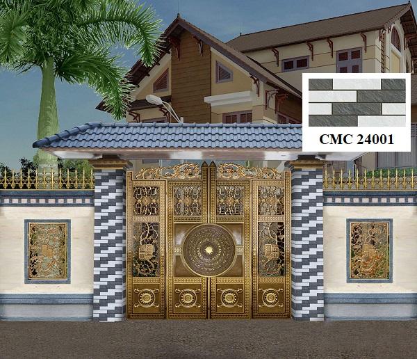 Mẫu gạch thẻ giả đá ốp ngoại thất CMC 24001 với tông màu trang nhã, sang trọng