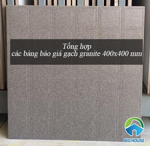 Bảng báo giá gạch granite 400×400 Đẹp mắt và Cách dùng Hiệu quả