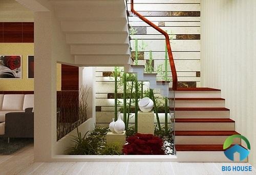 cầu thang nhà lệch tầng đẹp 7