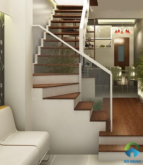 cầu thang nhà lệch tầng đẹp 8