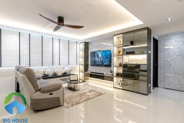 Chọn gạch lát nền phòng khách theo diện tích không gian