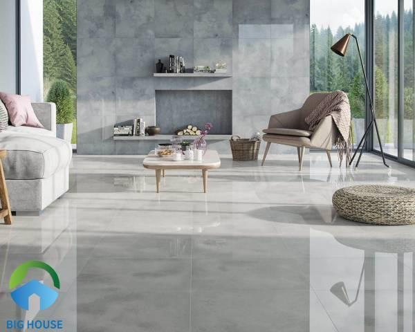 Chọn gạch lát nền phòng khách theo chất liệu gạch