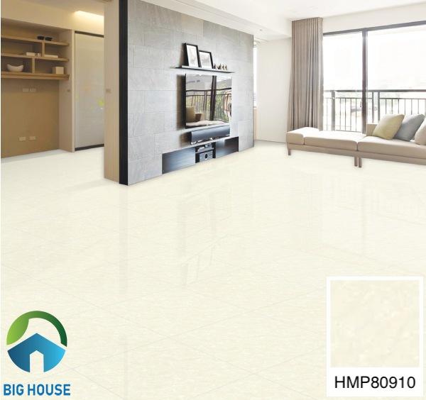 Phối cảnh chọn gạch lát nền phòng khách Bạch Mã HMP80910