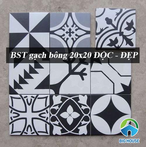 BST gạch bông 20×20 ĐỘC – ĐẸP – Ấn tượng kèm Báo giá tốt nhất