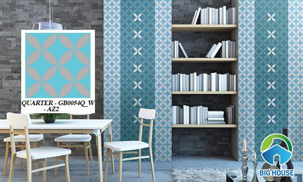 gạch bông 20x20 ốp tường màu xanh