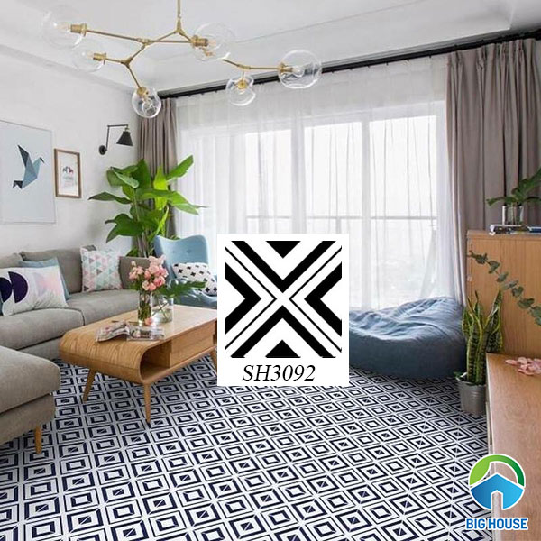 gạch bông 30x30 lát sàn đơn giản