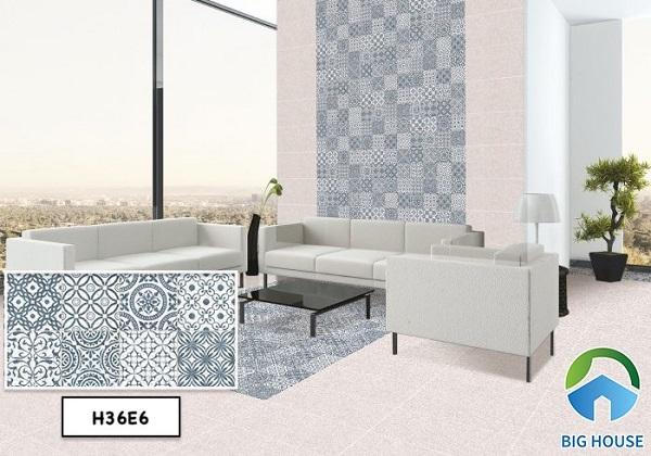 Bạch Mã H36E6 là một trong mẫu gạch được người tiêu dùng rất ưa chuộng. Tận dụng gạch trang trí tường và nền giống như tấm thảm rất đẹp mắt.