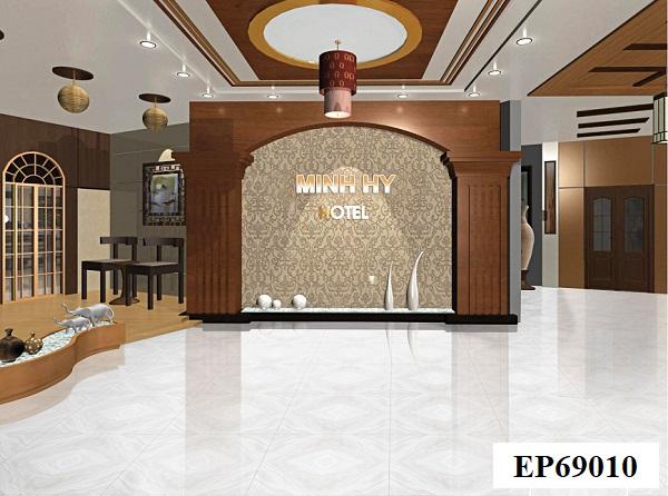Với những không gian rộng lớn, mang phong cách hiện đại, mẫu gạch bóng kính lát nền 60x60 EP69010 đến từ thương hiệu Ý Mỹ là sự lựa chọn tối ưu nhất