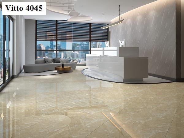 Mã sản phẩm Vitto 4045 với bề mặt vi tinh siêu bóng được làm từ chất liệu porcelain cho khu vực đại sảnh