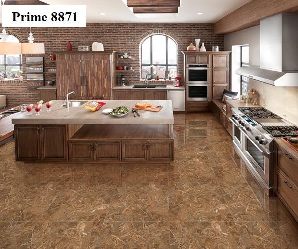 Mẫu gạch bóng kiếng 80x80 Prime 8871 thích hợp với những không gian phòng bếp có diện tích lớn