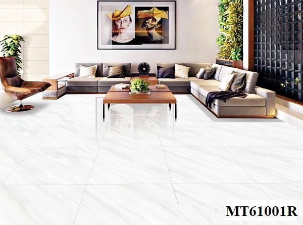 Mẫu gạch bóng kiếng 60x60 Ý Mỹ MT610001R giá rẻ với họa tiết xẻ đá độc đáo