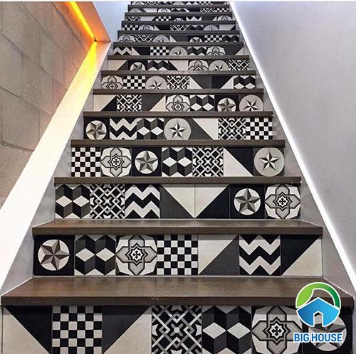 gạch bông lát cầu thang
