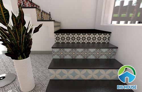 Top mẫu gạch bông lát cầu thang Đẹp – Ấn tượng và Lưu ý khi dùng