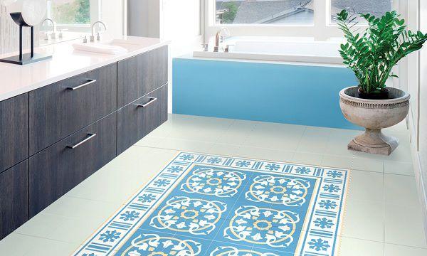 Gạch bông lát nền sàn bếp ấn tượng