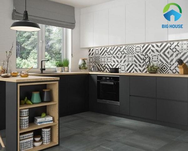 Mẫu gạch bông ốp phòng bếp Đẹp - Ấn tượng