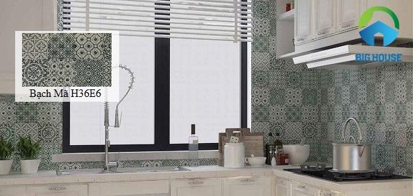 gạch bông ốp tường bếp