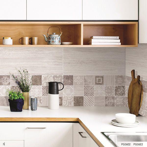 Gạch bông ốp tường tạo điểm nhấn cho nhà bếp