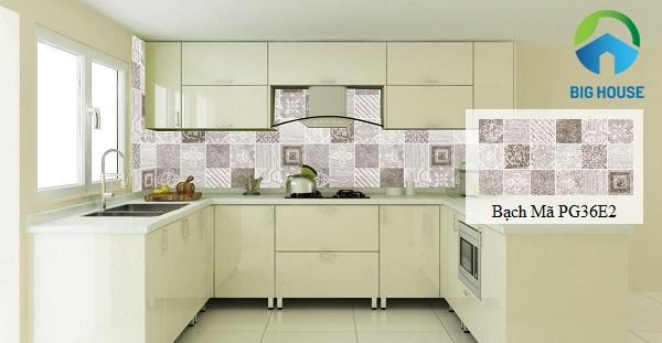 gạch bông trang trí bếp