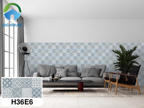 Gạch bông trang trí phòng khách Bạch Mã H36E6