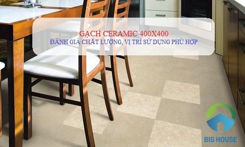 Cách ứng dụng Gạch ceramic 400×400 và các mẫu phối cảnh Đẹp mắt