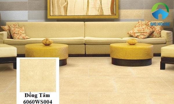 Gạch giả đá Đồng Tâm 6060WS004 với tông màu ấm cúng, rất phù hợp để sử dụng cho phòng nội thất