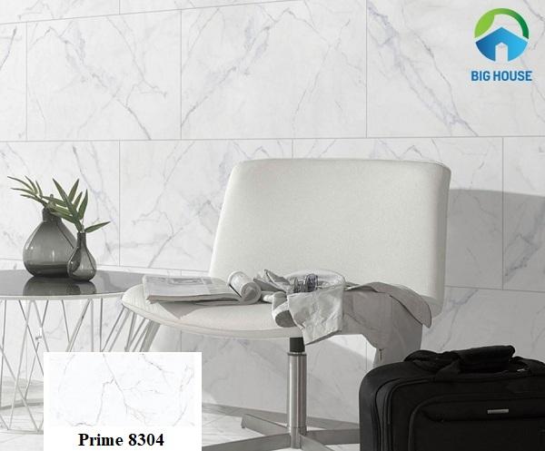 Vân đá marble màu trắng với vẻ đẹp thanh lịch, thời thượng của mẫu gạch Prime 08304 60x120 sẽ tạo nên điểm nhấn đặc biệt cho căn phòng