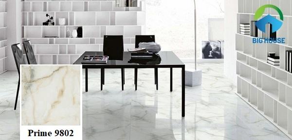 Mẫu gạch Prime 60x60 09802 màu trắng tinh tế, phù hợp với nhiều phong cách khác nhau