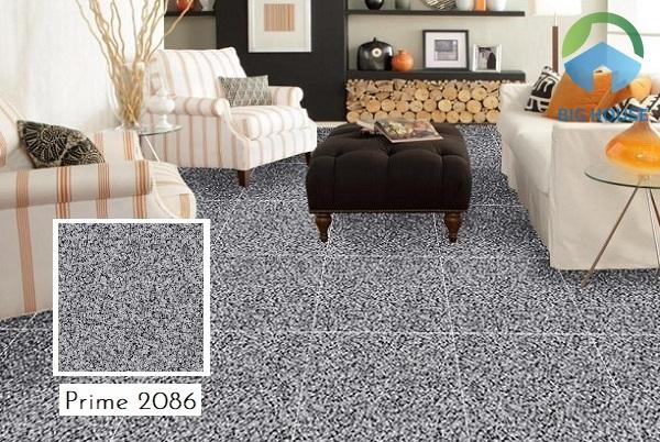 Phòng khách được lát nền bằng mẫu gạch Prime 2086 giả đá hoa cương tạo vẻ đẹp đầy mới mẻ