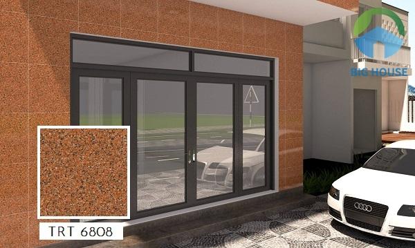 Gạch giả đá hoa cương ốp tường TRT 6808 60x60 giúp mặt tiền nhà thêm nổi bật và thu hút