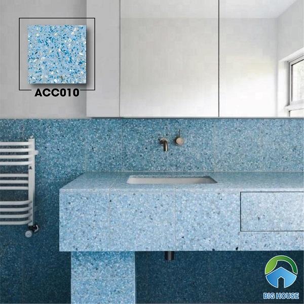 Hút hồn trước những viên gạch giá đá mài ACC010 màu xanh ốp tường nhà tắm lấp lánh lung linh rất thu hút