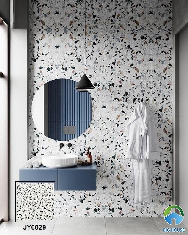 Cùng chiêm ngưỡng không gian phòng tắm hiện đại, phá cách với mẫu gạch terrazzo ốp tường JY6029