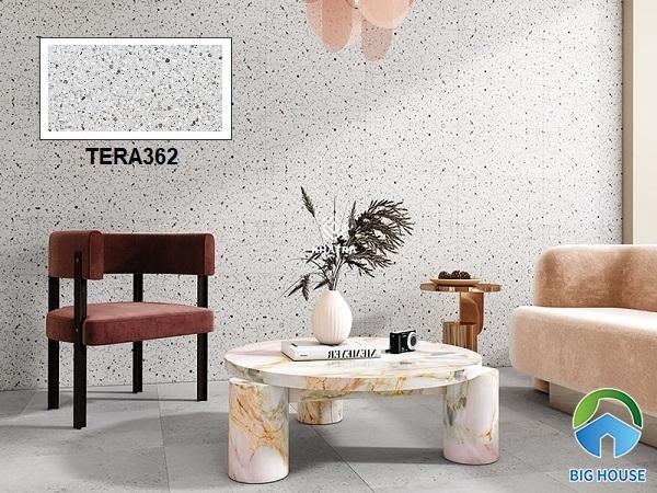 Gạch vân đá mài terrazzo TERA362 được nhiều gia chủ yêu thích và lựa chọn trang trí không gian nội thất