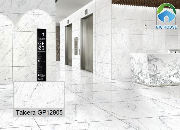 Taicera-GP12905 sở hữu kích thước lớn, phù hợp ốp lát các không gian lớn như nhà hàng, khách sạn, trung tâm thương mại